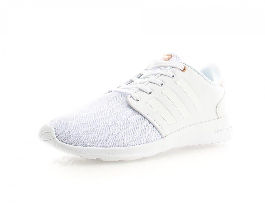 Adidas Cloudfoam Qt Racer Nahkatennarit Valkoinen
