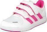Adidas Lk Trainer 6 Cf K White/Solar Pink/Light Pink