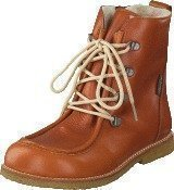 Angulus TEX-boot w. zipper and laces Cognac/Cognac