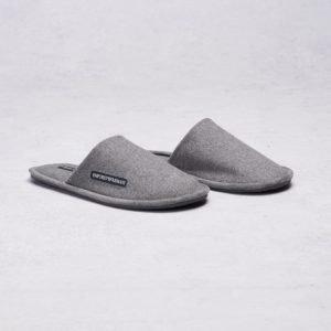 Armani Slippers Grey Melange