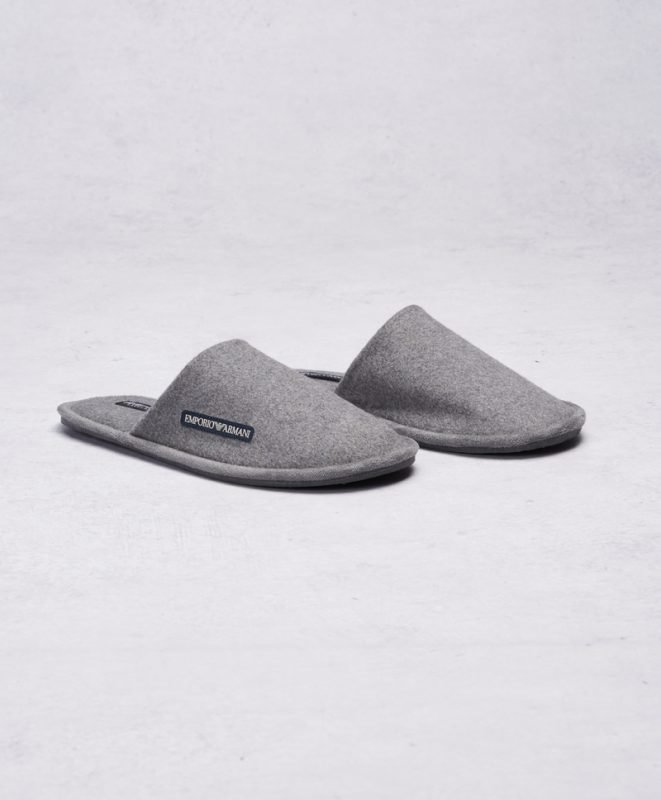 Armani Slippers Grey Melange