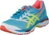 Asics Gel-Cumulus 18 White / Safety Yellow / Blue