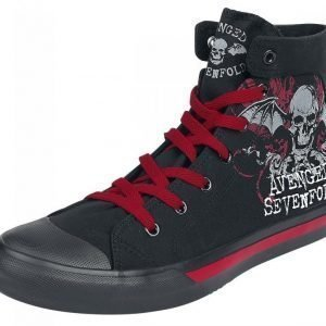 Avenged Sevenfold Floral Deathbat Varsitennarit