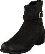 Bianco Ankle Leather Boot Black
