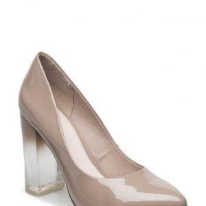 Bianco Clear Heel Pump Exp16