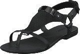 Bianco Graphic Suede Sandal Black