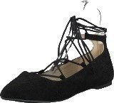 Bianco Laced Up Ballerina Black