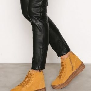 Bianco Laced Up Suede Boot Varsitennarit Mustard