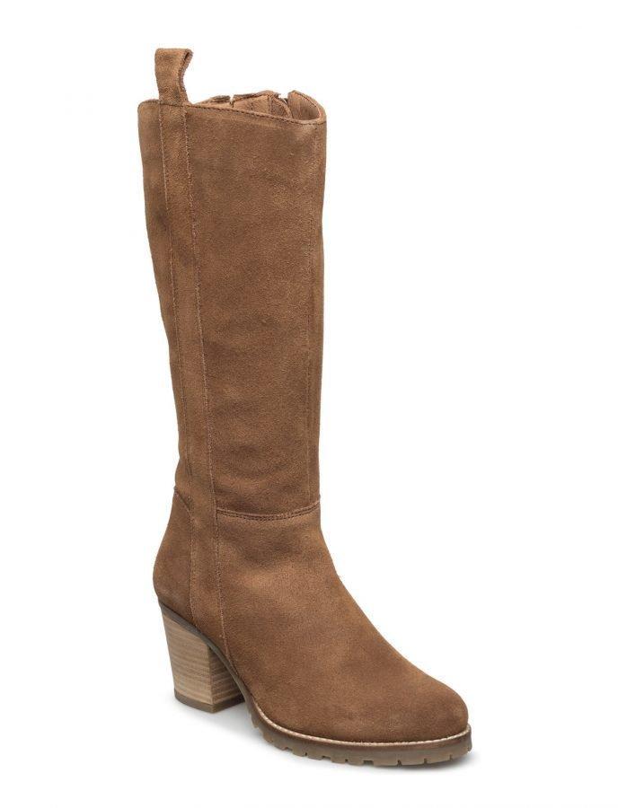 Bianco Long Suede Boot Jja16