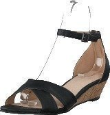 Bianco Low Wedge Sandal Black