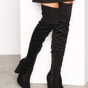 Bianco Overknee Stretch Boot Ylipolvensaappaat Black