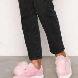 Bianco Pom Pom Sneakers Slip-On Kengät Rose