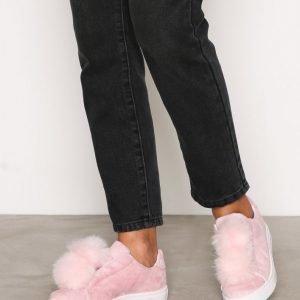 Bianco Pom Pom Sneakers Slip-On Kengät Rose