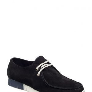 Bianco Suede Cas Shoe Mam16
