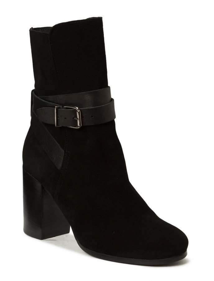 Bianco Suede Strap Boot Son15