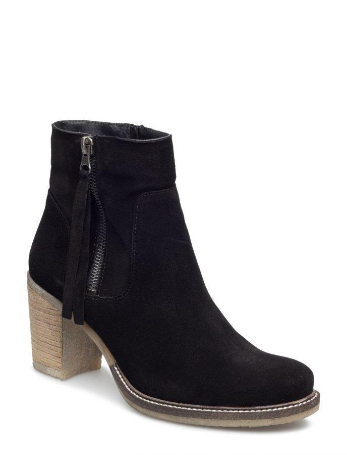 Bianco Suede Zip Boot Djf16