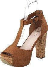 Bianco T-bar sandal DJF 16 Light Brown