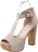 Bianco T-bar sandal DJF 16 Nougat