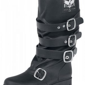 Black Premium by EMP Buckle Rubber Boot Kumisaappaat