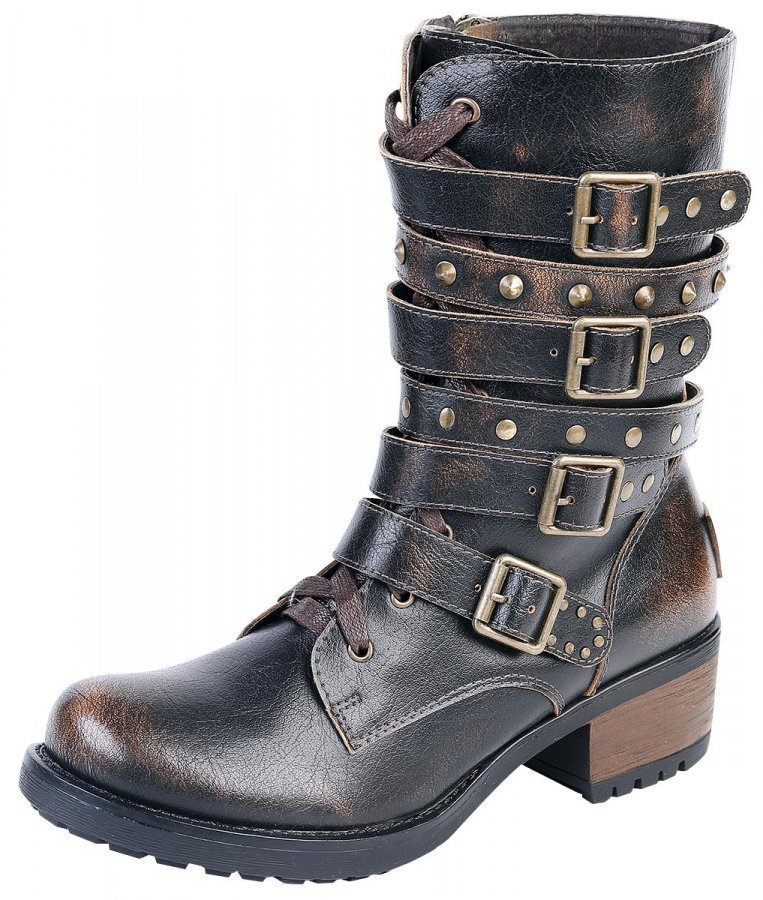 Black Premium by EMP High Strap Boot Varsikengät