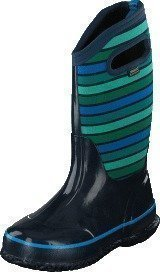 Bogs Classic Stripes Kids Dark Blue Multi
