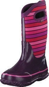 Bogs Classic Stripes Kids Purple Multi