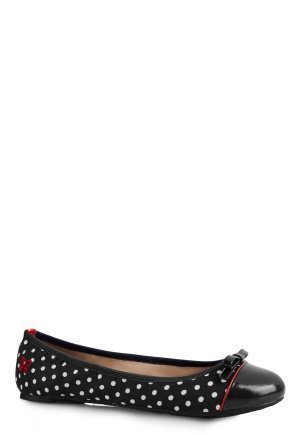 Butterfly Twists Cara Black/White Polka Dot