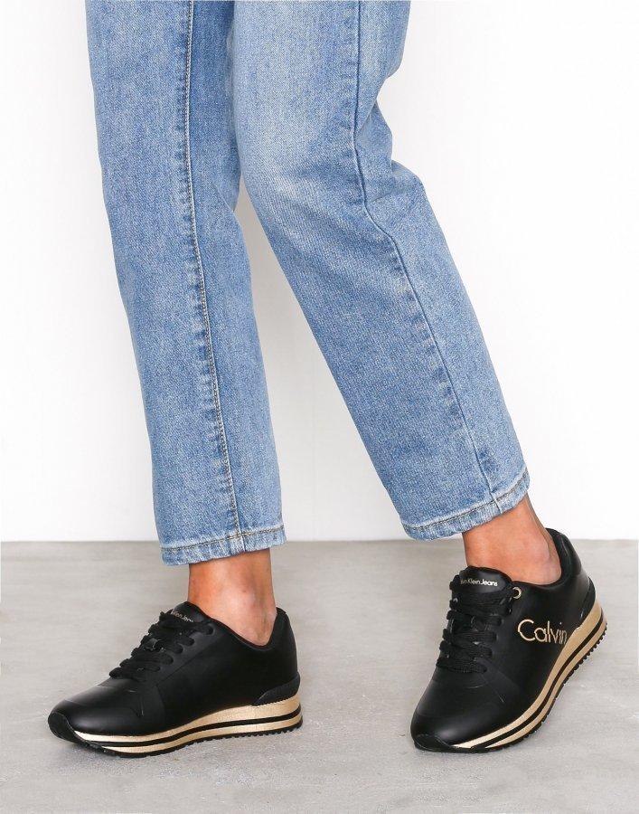 Calvin Klein Jeans Tabitha Rub Smooth / Hf Tennarit Musta / Kulta