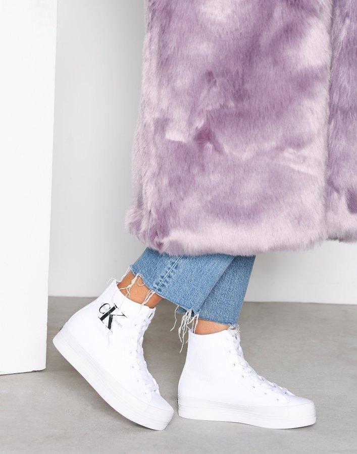 Calvin Klein Jeans Zabrina Canvas Varsitennarit Valkoinen