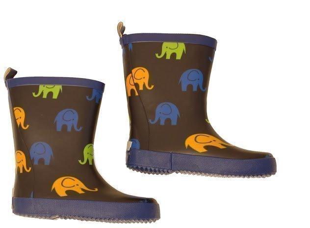 Celavi Elefanttikuvioiset kumisaappaat Tummansininen
