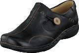 Clarks Un Loop Black Leather
