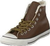 Converse All Star Leather Shearling Hi Chocolate