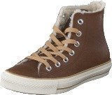 Converse All Star Leather Shearling Hi Dark Earth
