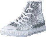 Converse All Star Metallic-Hi Pure Silver/White/White