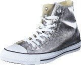 Converse All Star Metallics-Hi Gunmetal/White/Black