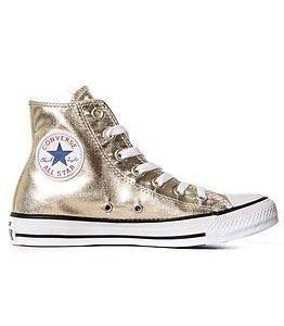 Converse All Star Metallics Hi Light Gold/White/Black