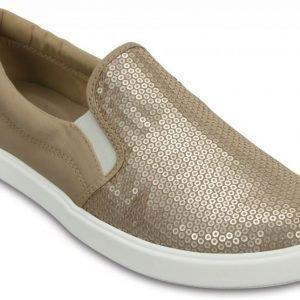 Crocs Loaferit Naisille Keltainen CitiLane Sequin Slip-Ons