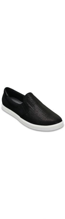 Crocs Loaferit Naisille Musta CitiLane Sequin Slip-Ons