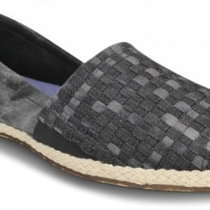 Crocs Loaferit Naisille Musta Ocean Minded Espadrilla Winter Slip-on