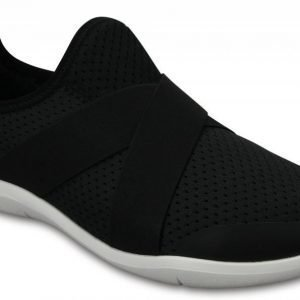Crocs Loaferit Naisille Musta Swiftwater Cross-Strap