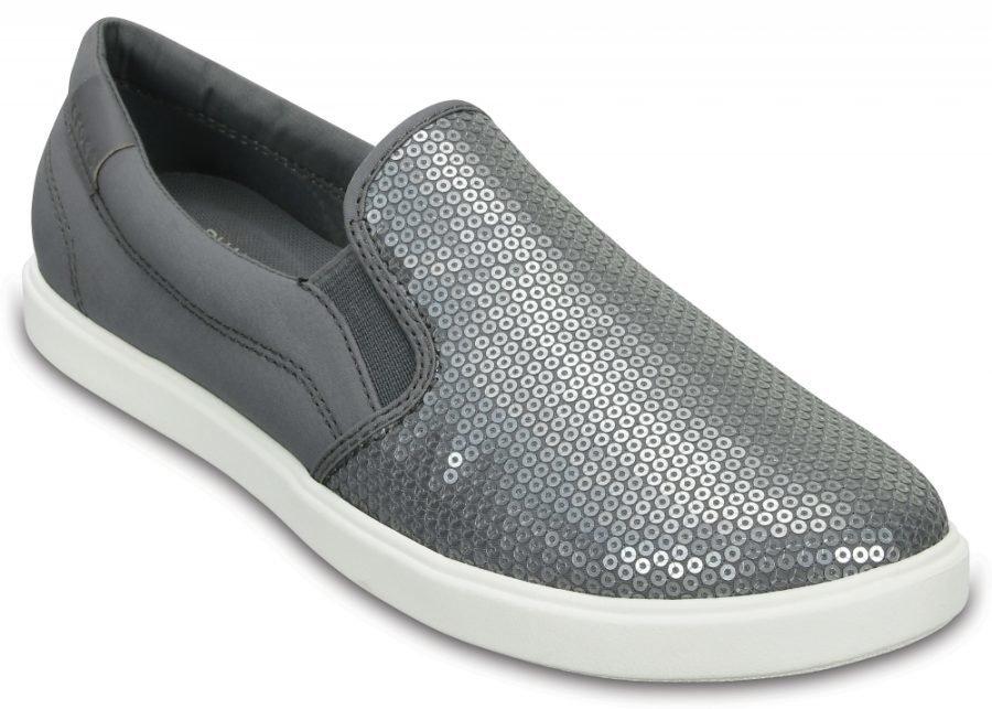 Crocs Loaferit Naisille Valkoinen CitiLane Sequin Slip-Ons