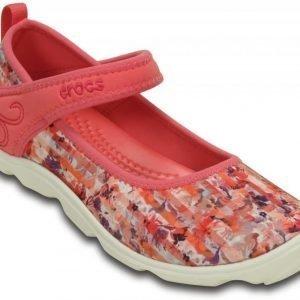 Crocs Loaferit Tytöille Oranssi Duet Busy Day Floral Shoe