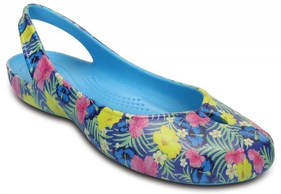 Crocs Matalat Naisille Blue / Fluorescent Olivia II Graphic