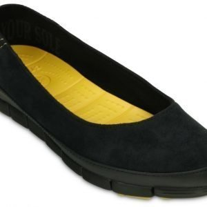 Crocs Matalat Naisille Musta Stretch Sole Microsuede