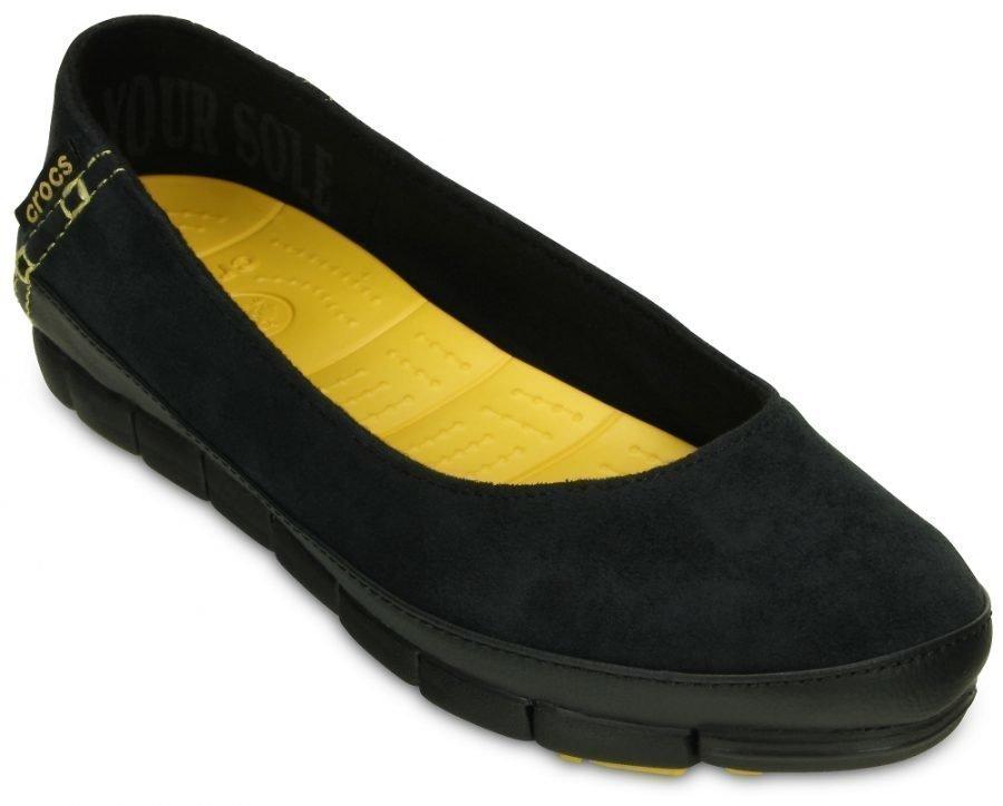 Crocs Matalat Naisille Musta Stretch Sole Microsuede