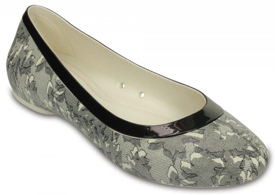 Crocs Matalat Naisille Oyster/Black Lina Shiny