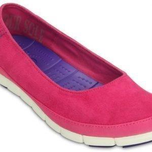 Crocs Matalat Naisille Pinkki Stretch Sole Microsuede