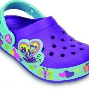 Crocs Pistokkaat Crocband Lights Butterfly Neonlila/Aqua