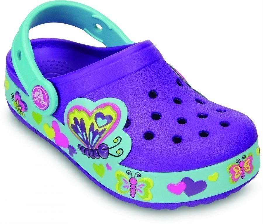 Crocs Pistokkaat Crocband Lights Butterfly Neonlila/Aqua