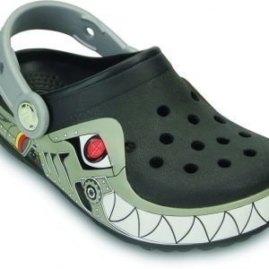 Crocs Pistokkaat Crocband Lights Robo Shark Musta/Hopea